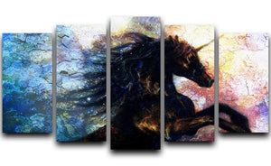 Unicorn dancing 5 Split Panel Canvas  - Canvas Art Rocks - 1