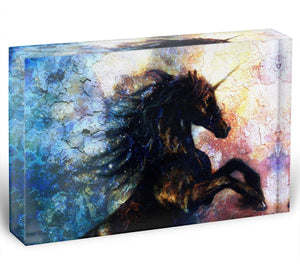 Unicorn dancing Acrylic Block - Canvas Art Rocks - 1