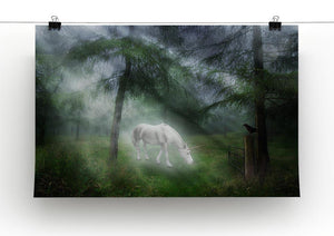 Unicorn in a magical forest Canvas Print or Poster - Canvas Art Rocks - 2