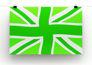 Union Jack Green Twist Print - Canvas Art Rocks - 2