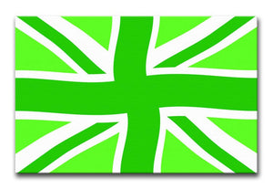 Union Jack Green Twist Print - Canvas Art Rocks - 1