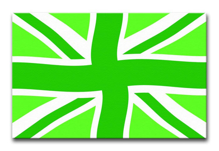 Union Jack Green Twist Canvas Print or Poster