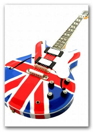 Union Jack Guitar Print - Canvas Art Rocks - 1