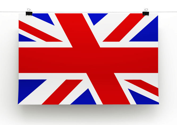 Union Jack Slant Print - Canvas Art Rocks - 2