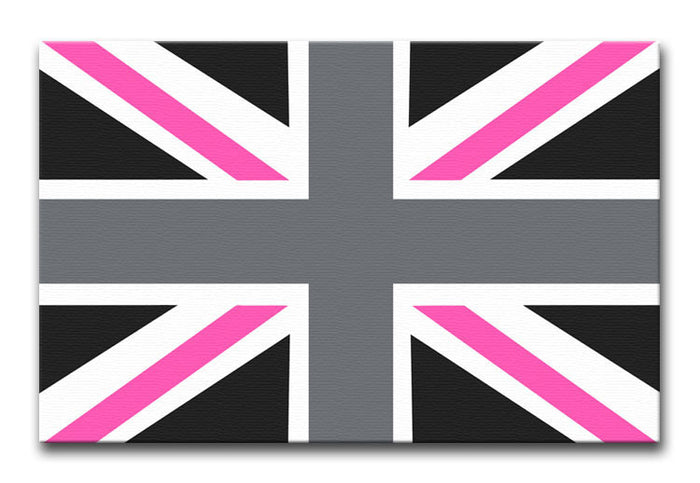 Union Jack Pink Canvas Print or Poster