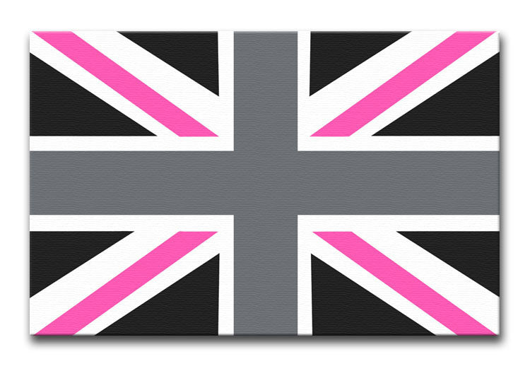 Union Jack Pink Print - Canvas Art Rocks - 1