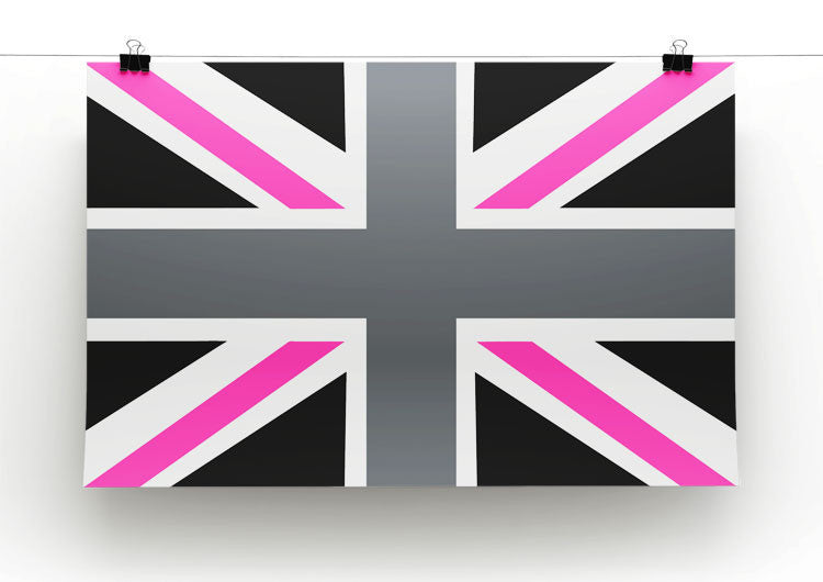 Union Jack Pink Print - Canvas Art Rocks - 2