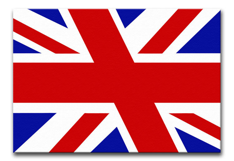 Union Jack Slant Print - Canvas Art Rocks - 1