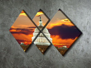 United States Capitol Building 4 Square Multi Panel Canvas  - Canvas Art Rocks - 2