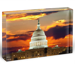 United States Capitol Building Acrylic Block - Canvas Art Rocks - 1
