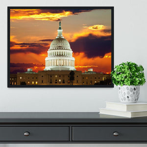 United States Capitol Building Framed Print - Canvas Art Rocks - 2