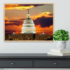 United States Capitol Building Framed Print - Canvas Art Rocks - 4