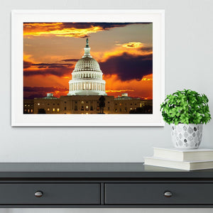 United States Capitol Building Framed Print - Canvas Art Rocks - 5