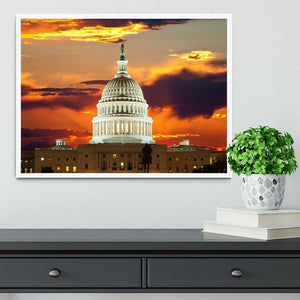 United States Capitol Building Framed Print - Canvas Art Rocks -6