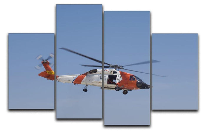 United States Coast Guard helicopter 4 Split Panel Canvas