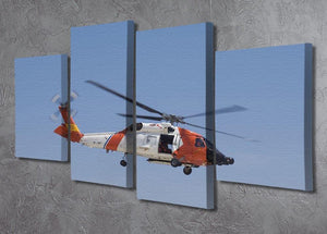 United States Coast Guard helicopter 4 Split Panel Canvas  - Canvas Art Rocks - 2