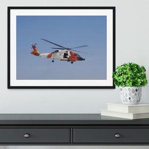 United States Coast Guard helicopter Framed Print - Canvas Art Rocks - 1