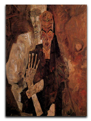 Unlicensed or even death and man by Egon Schiele Canvas Print or Poster - Canvas Art Rocks - 1