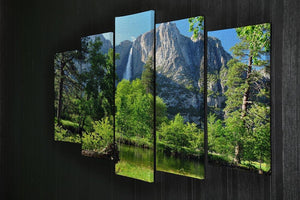 Upper Yosemite Falls 5 Split Panel Canvas  - Canvas Art Rocks - 2