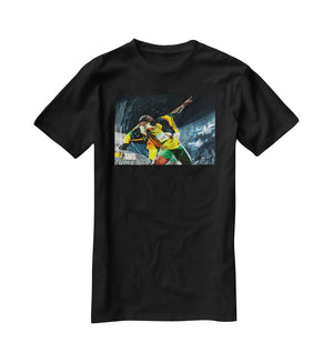 Usian Bolt Iconic Pose T-Shirt - Canvas Art Rocks - 1
