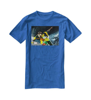 Usian Bolt Iconic Pose T-Shirt - Canvas Art Rocks - 2