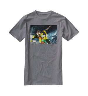 Usian Bolt Iconic Pose T-Shirt - Canvas Art Rocks - 3