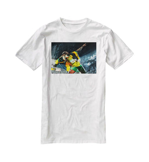 Usian Bolt Iconic Pose T-Shirt - Canvas Art Rocks - 5