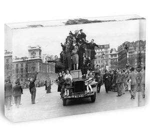 VE celebrations in London Acrylic Block - Canvas Art Rocks - 1