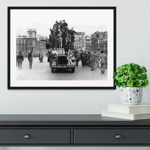 VE celebrations in London Framed Print - Canvas Art Rocks - 1