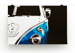 VW Camper Print - Canvas Art Rocks - 3