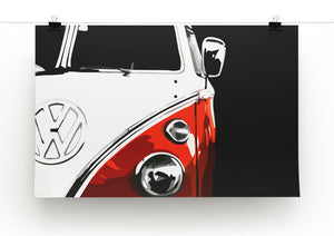 VW Camper Print - Canvas Art Rocks - 2