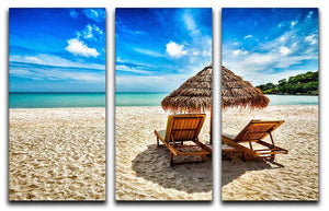 Vacation holidays 3 Split Panel Canvas Print - Canvas Art Rocks - 1