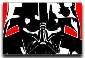 Star Wars Inspired Darth Vader Redback Canvas Print or Poster - Canvas Art Rocks