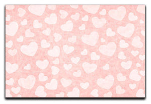 Valentine Heart pink Canvas Print or Poster  - Canvas Art Rocks - 1