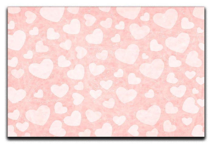 Valentine Heart pink Canvas Print or Poster