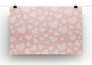 Valentine Heart pink Canvas Print or Poster - Canvas Art Rocks - 2