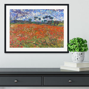Van Gogh Poppies Field Framed Print - Canvas Art Rocks - 1