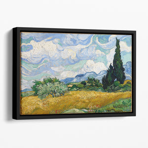Van Gogh Wheat Field with Cypresses Floating Framed Canvas