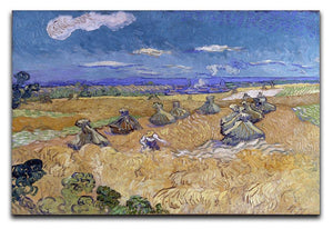 Van Gogh Wheat Fields with Reaper at Auvers Canvas Print & Poster  - Canvas Art Rocks - 1