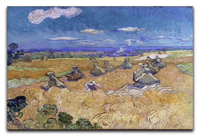Van Gogh Wheat Fields with Reaper at Auvers Canvas Print or Poster