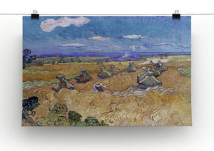 Van Gogh Wheat Fields with Reaper at Auvers Canvas Print & Poster - Canvas Art Rocks - 2