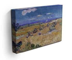 Van Gogh Wheat Fields with Reaper at Auvers Canvas Print & Poster - Canvas Art Rocks - 3
