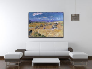 Van Gogh Wheat Fields with Reaper at Auvers Canvas Print & Poster - Canvas Art Rocks - 4