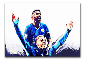 Rihad Mahrez and Jamie Vardy Print - Canvas Art Rocks - 1