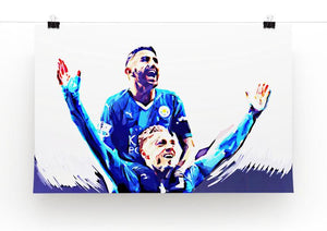 Rihad Mahrez and Jamie Vardy Print - Canvas Art Rocks - 2