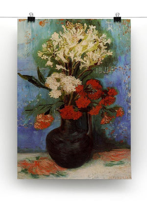 Vase with Carnations and Other Flowers by Van Gogh Canvas Print & Poster - Canvas Art Rocks - 2