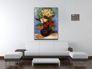 Vase with Carnations and Other Flowers by Van Gogh Canvas Print & Poster - Canvas Art Rocks - 4