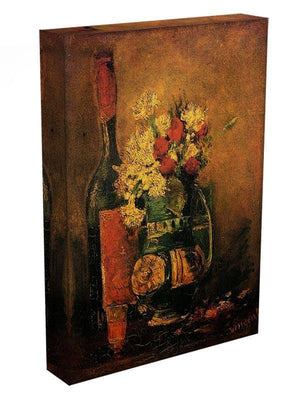 Vase with Carnations and Roses and a Bottle by Van Gogh Canvas Print & Poster - Canvas Art Rocks - 3