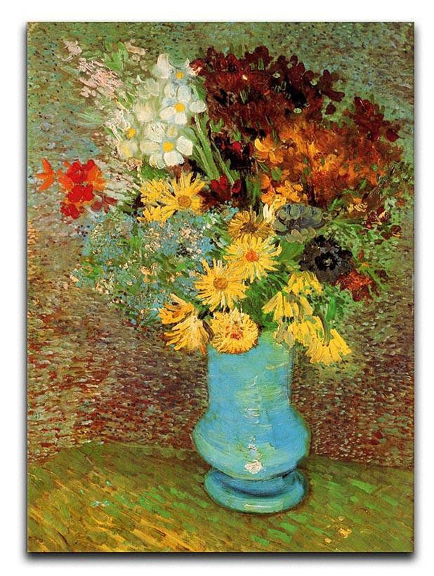 Vase with Daisies and Anemones by Van Gogh Canvas Print or Poster