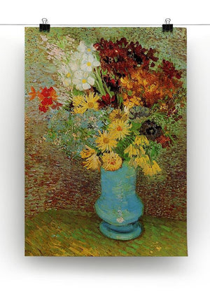 Vase with Daisies and Anemones by Van Gogh Canvas Print & Poster - Canvas Art Rocks - 2